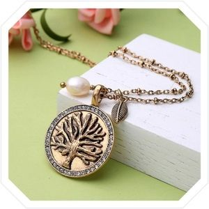 Jewelry - Vintage Inspired Tree of Life Pendante Necklace